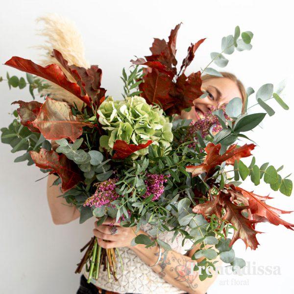 Ramo natural con hortensia, roble, eucalipto, pampa